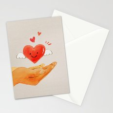 Love in your hand Stationery Cards