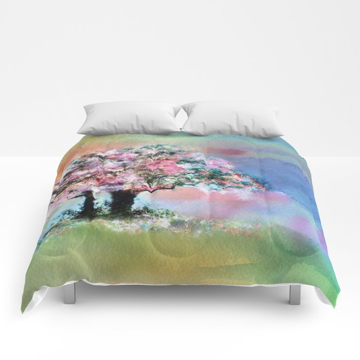 Cherry Blossom Trees Comforters