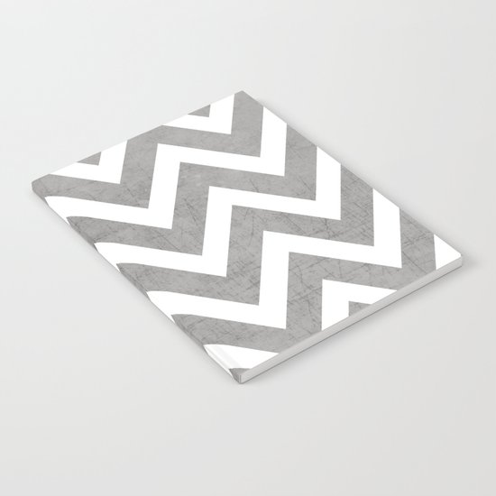 gray chevron Notebook