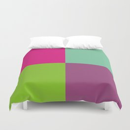 Colorful quarters Duvet Cover