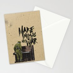 make music not war Stationery Cards