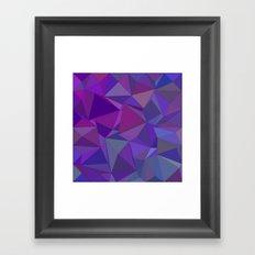 Chaotic purple tiles Framed Art Print