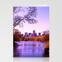 central park Stationery Cards featuring Central Park by Anna Andretta