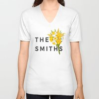 smiths V-neck T-shirts featuring SMITHS by priscilawho