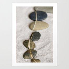 zen pebble line Art Print