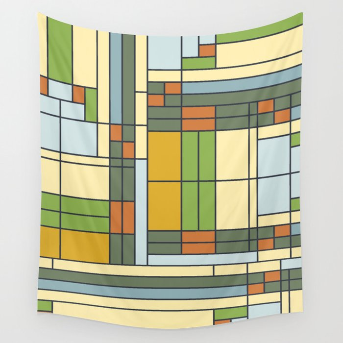 Frank Lloyd Wright Pattern S01 Wall Tapestry By Etmeusmoi