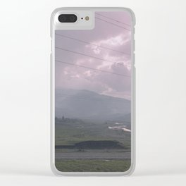 Stormy weather Clear iPhone Case