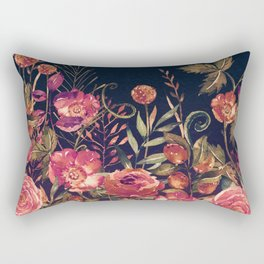 Vintage Garden 3 (Night Flowers) Rectangular Pillow