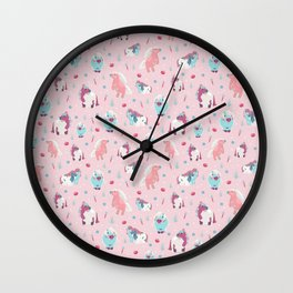 Pretty Ponies Wall Clock