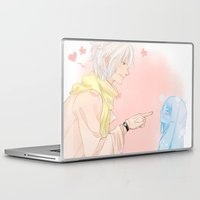 kawaii Laptop & iPad Skins featuring Kawaii by Mattie