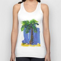 palm tree Tank Tops featuring Palm Tree  by Thom Lupari