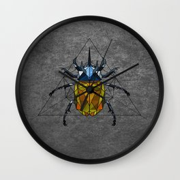 Geo Beetle  Wall Clock