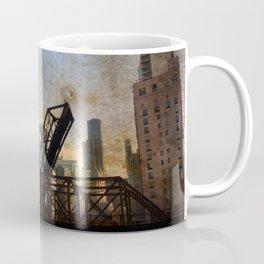 Chicago Skyline Chicago River Drawbridge Coffee Mug