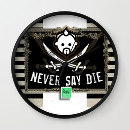NEVER SAY HD by JC LOGAN 4 Simply Blessed Wall Clock