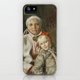 ANDERS ZORN,  Mona och Karin  1885 iPhone Case