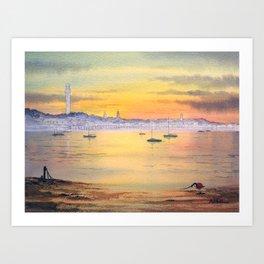 Impressions Of Provincetown Cape Cod USA Art Print