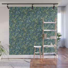 Paisley Forest Green Wall Mural