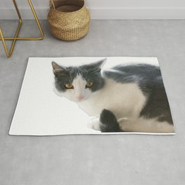 A Max And Mantle Bi Colour Cat Isolated Rug