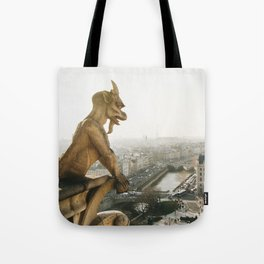 Gargoyle in Paris Tote Bag