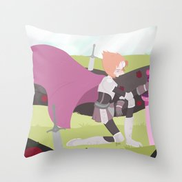 The Lone Pearl Throw Pillow