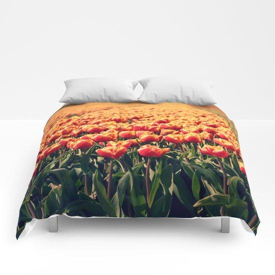 Tulips field #6 Comforters