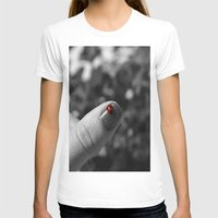 nail polish T-shirts featuring ladybug on my nail by gzm_guvenc
