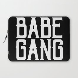 Babe Gang - White Laptop Sleeve