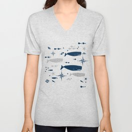 Sperm Whale #nautical #homedecor #coastal #whale Unisex V-Neck