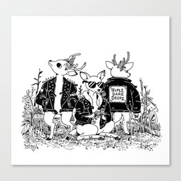 The Triple Dare Deerz Canvas Print