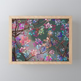 Floral abstract 76 Framed Mini Art Print