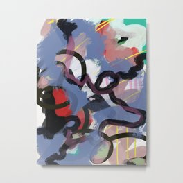 Fame - Abstract Colorful Painting Metal Print