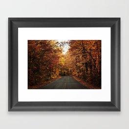 The Fall Road Framed Art Print