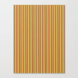 Stylish retro vertical stripes print in yellow Canvas Print