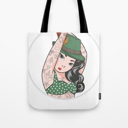 Bavarian Wiesn Madel Tattoo Tracht Sexy Gift Tote Bag