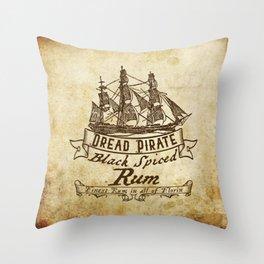 Dread Pirate Rum Throw Pillow