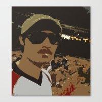 boyfriend Canvas Prints featuring Hey Boyfriend by Carsick T-Rex