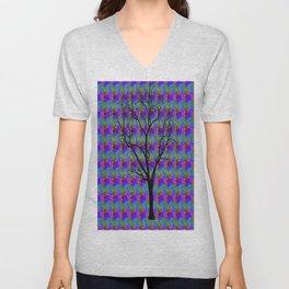 Psychedelic Mystery Tree Unisex V-Neck