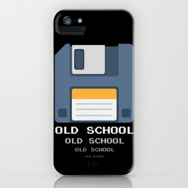 Old School Computer Floppy Diskette iPhone Case