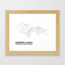 Gazprom (Laura) Mountain Resort, Sochi, Russia - European Edition - Minimalist Trail Art Framed Art Print