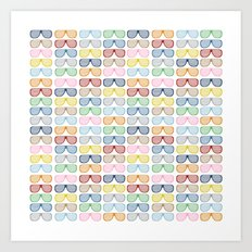 Rainbow Shutter Shades Art Print