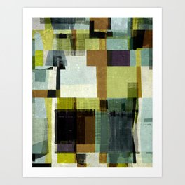 modern mid century, Geometric art, contemporary art, Scandinavian art, retro art, poster print, fami Art Print