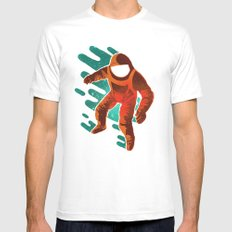 Space Distortion Mens Fitted Tee MEDIUM White