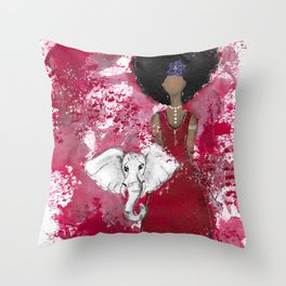 Delta Angel Throw Pillow
