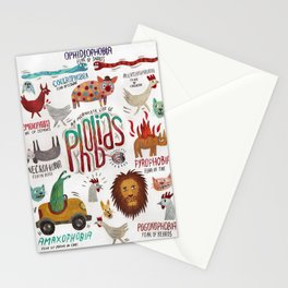 Phobias Stationery Cards