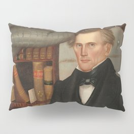 Vermont Lawyer Oil Painting by Horace Bundy Pillow Sham