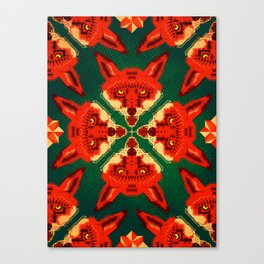 Fox Cross geometric pattern Canvas Print