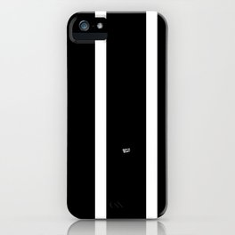 BLACK AND WHITE STRIPES #black #white #stripes #minimal #art #design #kirovair #buyart #decor #home iPhone Case