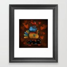 FRIENDSGIVING! Framed Art Print