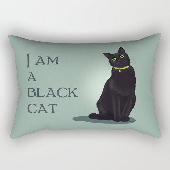I am a black cat Rectangular Pillow