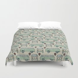 On My Way To Everywhere Pattern Duvet Cover